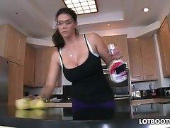 Big booty brunette busty maid Alison Tyler gets fucked