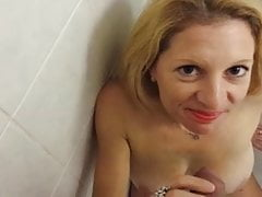Subjugated wifey like to drink urinate