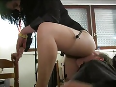 hairy french mature lady and young slave