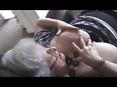 Sexy granny with huge boobs teasing