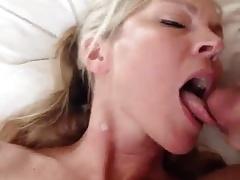 Naughty Mom Eating Cum