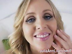 Sexy Milf Julia Ann Fingers Herself to Orgasm!