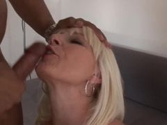 Fabulous light-haired step-mom gets porked in the arse rock hard by ebony son