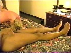 Mature milky wifey pleasuring ?�?2 large dark-hued rods in hotel