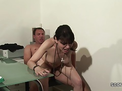 German MILF Fuck by Monster Cock in Office