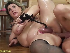 Big-titted plumper mature harsh buttfuck humped