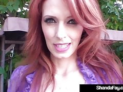 Red-hot Housewife Shanda Fay Has BackYard intercourse!