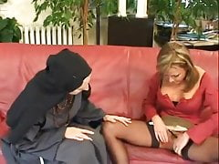 Mature going knuckle deep nun