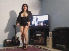 Cougar danse en collant et soutif