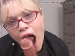 Platinum-blonde cougar With Glasses luvs dick