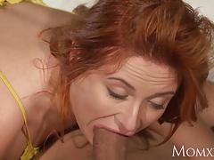 MOM Sexy Russian redhead nymphomaniac love to deepthroat