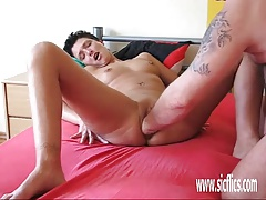 Brutally fisting the wifes greedy loose pussy