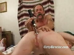 Mature sandy-haired Gets pooper Gaped