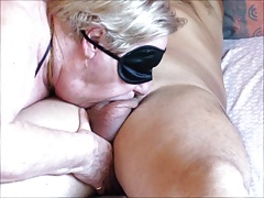 Granny long blowjob