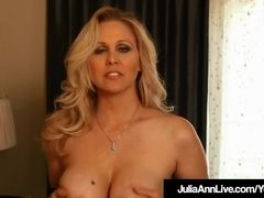 World notorious cougar Julia Ann fake penis nails Her steaming tastey puss!