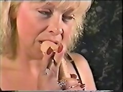 Sexy MILF Smokes her More 120's while sucking on her dildo