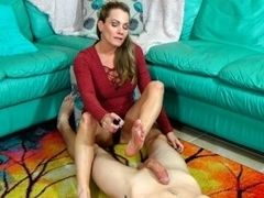 Slave's first-ever feet wank