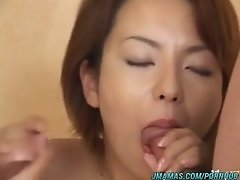 Alluring and horny Asian mature Rio Kurusu groped and fingered