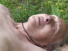 Grannie enticed by youthful naturist
