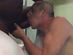 Nasty wifey order hotwifey to cleans big black beef whistle beef whistle and her fuckbox